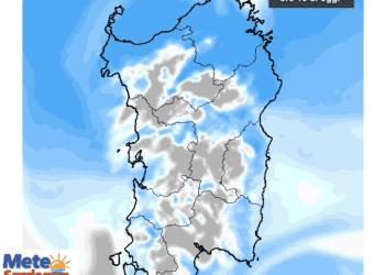 La nuvolosità totale alle ore 16 di oggi.
