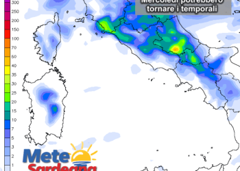 piogge25 350x250 - Sardegna, ancora meteo variabile. Foto da Ploaghe, Sassari