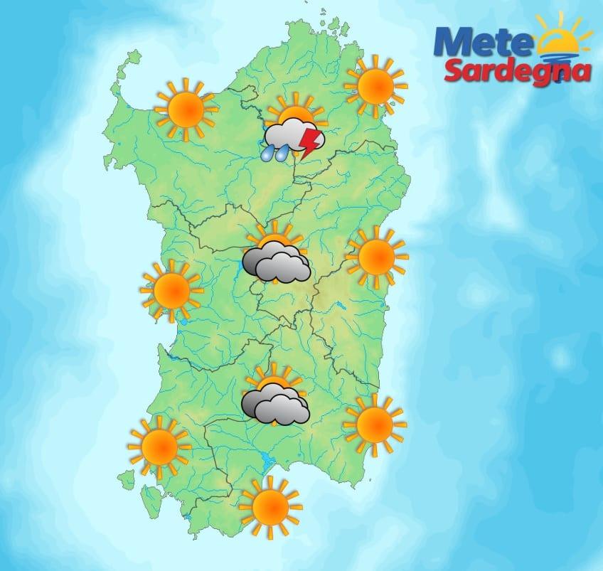 Le previsioni meteo per la giornata di sabato 20 giugno.