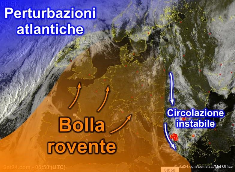 sat7 - Bolla rovente sahariana a ridosso della Sardegna