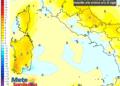 Le differenze di temperatura delle ore 14 del 23 giugno, rispetto alla stessa ora di oggi.