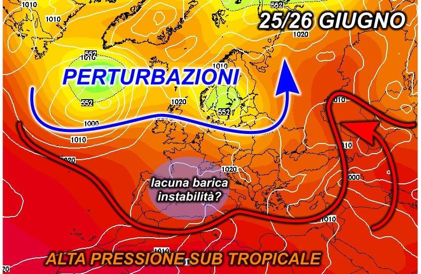 z500 1201 - LUNGO TERMINE - Breve parentesi temporalesca poi fiammata calda?