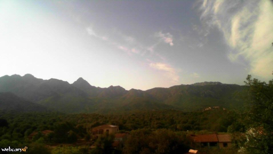 Biasì, al momento, è una delle località più calde dell'Isola. Fonte webcam basimeteo.it