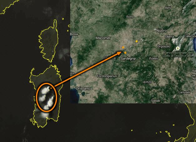 Temporali - Grosse nubi temporalesche nel centro Sardegna