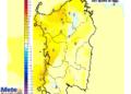 Le variazioni termiche delle ore 14 di venerdì 17 luglio rispetto alla stessa ora di oggi.