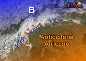 Fonte immagine EumetSat/Sat24, rielaborazione grafica a cura della Redazione di Meteo Sardegna.