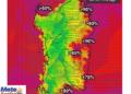 Le percentuali di umidità alle ore 15 di oggi.