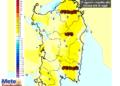La variazioni termiche delle ore 14 di lunedì 31 Agosto, rispetto alla stessa ora di oggi.