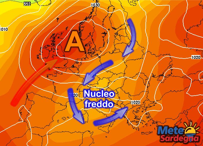 La prossima settimana potrebbe arrivare un nucleo d'aria fredda.