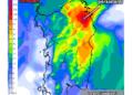 Le piogge di mercoledì 30 settembre secondo il modello di previsione LAM del Meteo Sardegna.