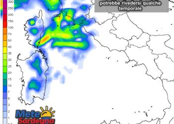 Le possibili precipitazioni domenica 13 Settembre.