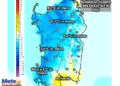 Le variazioni termiche delle ore 14 del 2 settembre, rispetto alla stessa ora di oggi.