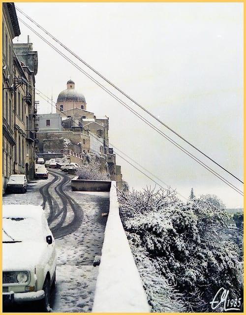 cagliari 9 gennaio 1985 - La Sardegna sotto la neve, ricordi fotografici