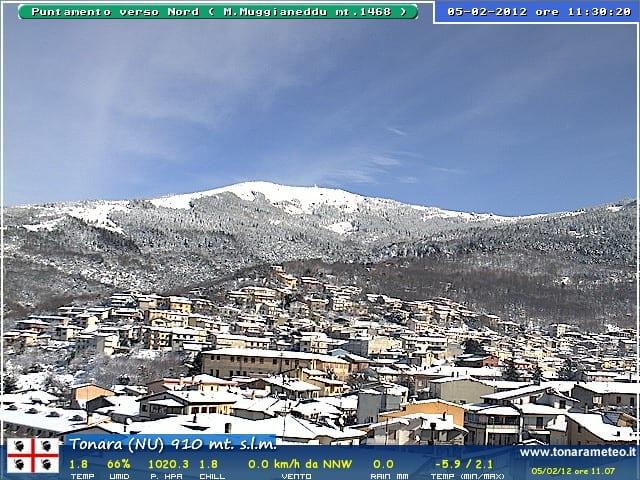 webcam neve tonara 2012 - La Sardegna sotto la neve, ricordi fotografici