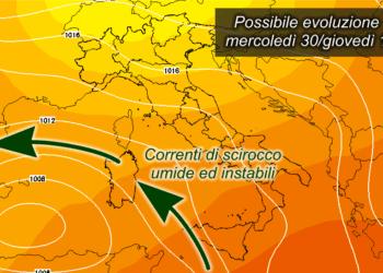 z500 1201 350x250 - Prossima settimana fresca; possibile ritorno delle piogge