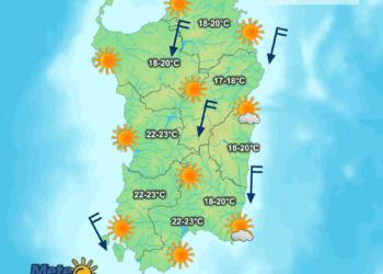 Le condizioni meteo di oggi, venerdì 23 Ottobre.