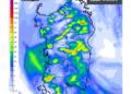 Le piogge di oggi, sabato 110 Ottobre, secondo il nostro modello ad altissima risoluzione.
