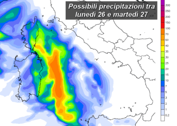 pcp24h 99 350x250 - Prossima settimana fresca; possibile ritorno delle piogge