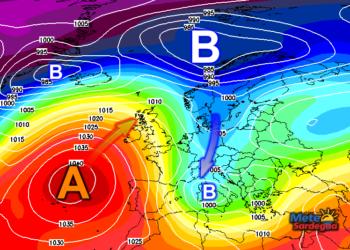 Nuova irruzione artica giovedì e maltempo invernale in accentuazione.