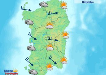 Il meteo di oggi, lunedì 30 Novembre.