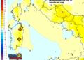 Le variazioni di temperatura delle ore 13 di lunedì 09 Novembre, rispetto ad oggi.