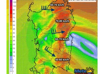 Vento7 350x250 - Prossima notte ponente fino a 70 km/h