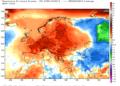 Le anomalie termiche in Europa da inizio novembre alla giornata del 22 novembre.