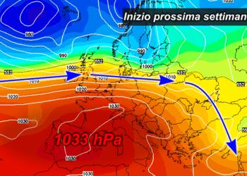 z500 66 350x250 - All'orizzonte un week end di sole e temperature fino a 25°C