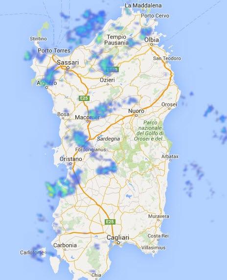30 12 2015 13 46 31 - Pioggia in varie zone della Sardegna