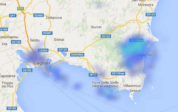 30 12 2015 18 10 34 - Deboli piogge anche su Cagliari, più forti su Costa Rei