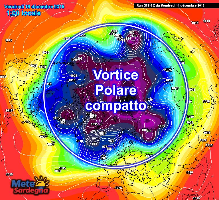 La situazione prevista ad alta quota per la giornata del 18 dicembre.
