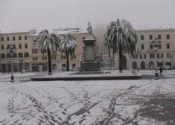 Sassari sotto una delle varie nevicate del Febbraio 2012.