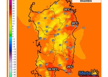 Le temperature massime di oggi, martedì 01 Dicembre.