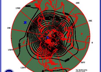 gfs z100 nh f240 350x250 - Prossima settimana fresca; possibile ritorno delle piogge