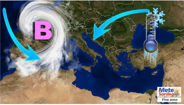 mappa europa meteo sardegna