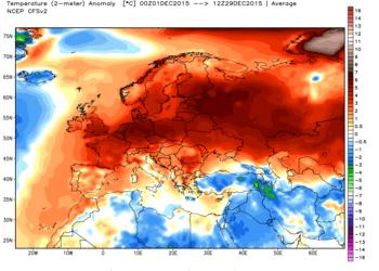 ncep cfsr europe t2m anom1 350x250 - Dalla padella alla brace: caldo a novembre e caldo a dicembre