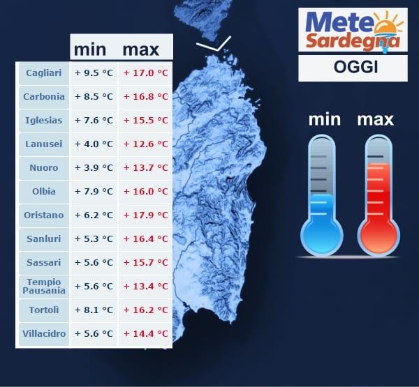 temperature oggi