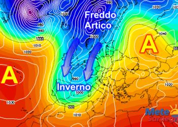 Ecco riapparire l'inverno sulla scena europea e sul Mediterraneo.