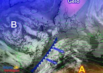 Fonte immagine EumetSat 2016, rielaborazione grafica a cura della Redazione del Meteo Sardegna.