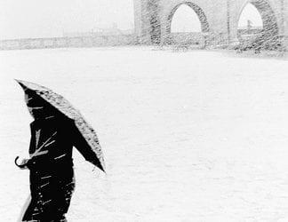 Tormenta di neve a Cagliari nel Gennaio 1985 (credits ignoto).