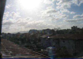 Oristano è stata una delle località più fredde della scorsa notte. Fonte webcam oristanometeo.com