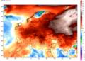 Le anomalie termiche continentali nel corso della prima settimana di febbraio.