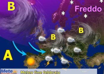 Tendenza meteo ultima settimana di febbraio.
