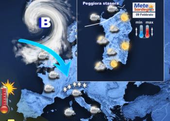 Il meteo di oggi, martedì 09 Febbraio.