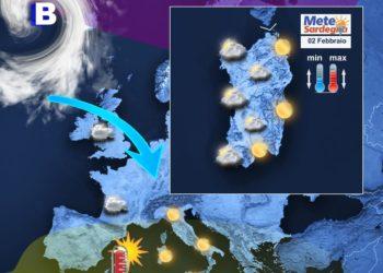 La situazione meteo attuale e la proiezione per la giornata di oggi.