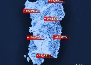 Temperature4 350x250 - Sardegna, a Natale temperature fino a 20°C