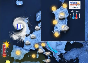 La situazione meteorologica odierna.