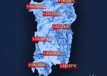 Temperature massime 1 350x250 - Sardegna, a Natale temperature fino a 20°C