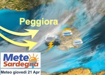 sardegna peggioramento meteo giovedi 21 aprile 350x250 - Meteo 7 giorni, inverno soffocato dall'anticiclone. Sole e rialzo termico