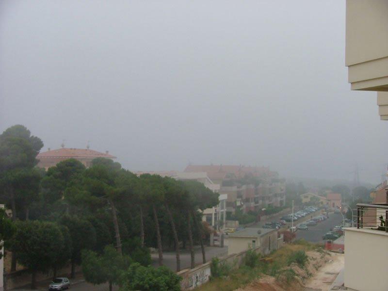 Ancora nebbia dell'alba a Sassari.
